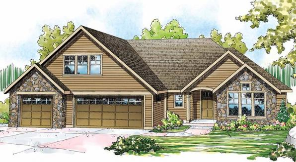 Gladstone - 30-786 - Cottage Home Plan - Front Elevation