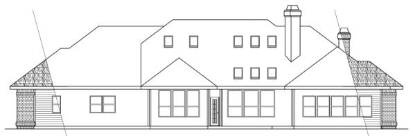Brentwood - 30-007 - Classic Home Plans - Rear Elevation