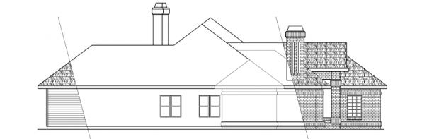 Brentwood - 30-007 - Classic Home Plans - Left Elevation