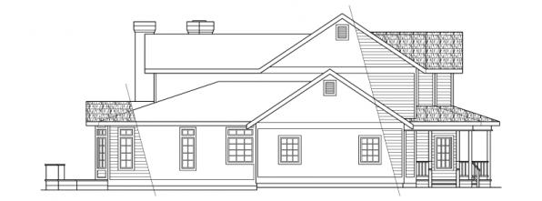 Shelburn - 30-035 - Country Home Plans - Left Elevation