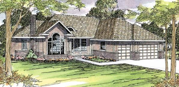 Jessica - 30-049 - Traditional Home Plans - Front Elevation