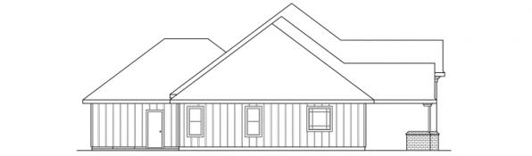 Barstow - 30-050 - Southwestern Home Plans - Left Elevation