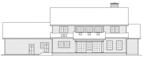 Kearney - 30-062 - Estate Home Plans - Rear Elevation