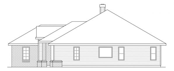 Syracuse - 30-063 - Traditional Home Plans - Right Elevation