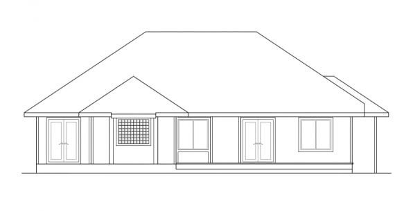 Lenox - 30-066 - Contemporary Home Plans - Rear Elevation