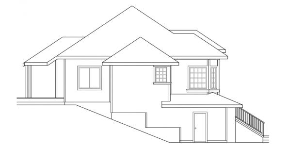 Lenox - 30-066 - Contemporary Home Plans - Left Elevation