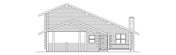 Wickiup - 30-116 - Lodge House Plan - Left Elevation