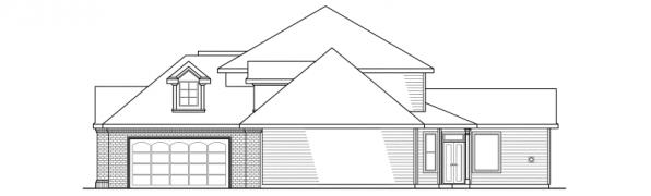 Aroland - 30-121 - Contemporary Home Plan - Right Elevation