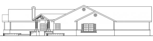 Williston - 30-165 - Ranch Home Plan - Left Elevation