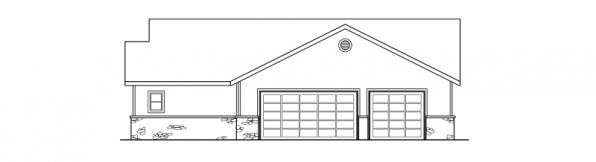 Williston - 30-165 - Ranch Home Plan - Right Elevation