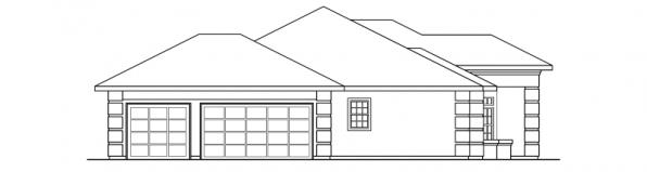 Lantana - 30-177 - Southwestern Home Plan - Left Elevation