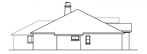 Mesilla - 30-183 - Southwestern Home Plan - Left Elevation
