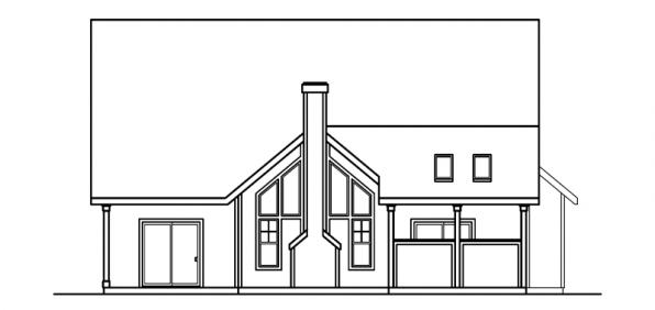 Bryson - 30-204 - Craftsman Home Plan - Rear Elevation