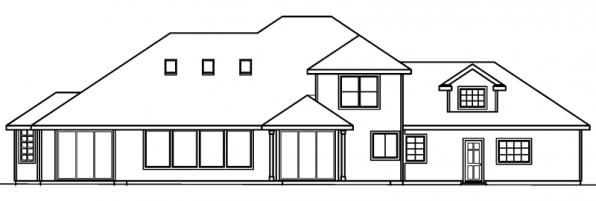 Colfax - 30-224 - Traditional Home Plan - Rear Elevation