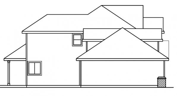 Colfax - 30-224 - Traditional Home Plan - Left Elevation
