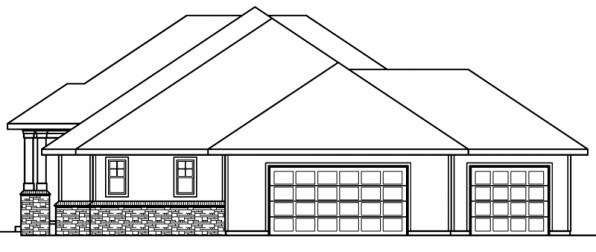 Belvedere - 30-280 - Contemporary Home Plan - Right Elevation