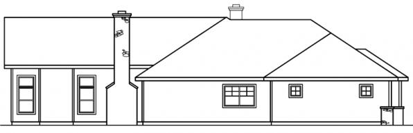 Bellewood - 30-292 - Ranch Home Plan - Left Elevation