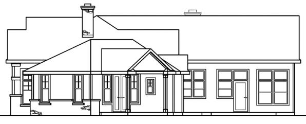 Bellewood - 30-292 - Ranch Home Plan - Right Elevation