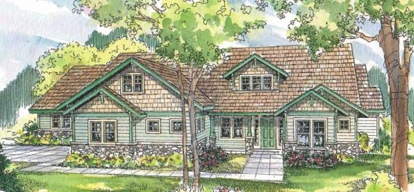 Radisson - 30-374 - Craftsman Home Plan - Front Elevation