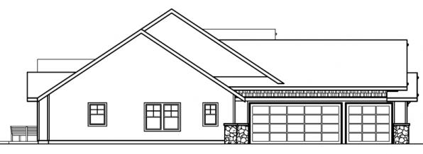 Radisson - 30-374 - Craftsman Home Plan - Left Elevation