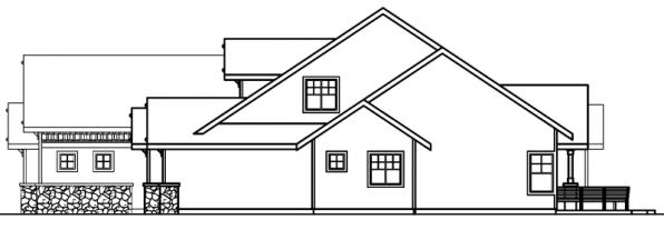 Radisson - 30-374 - Craftsman Home Plan - Right Elevation