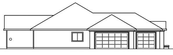 Roselle - 30-427 - Mediterranean Home Plan - Left Elevation