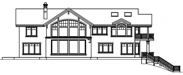 Brynwood - 30-430 - Estate Home Plan - Rear Elevation
