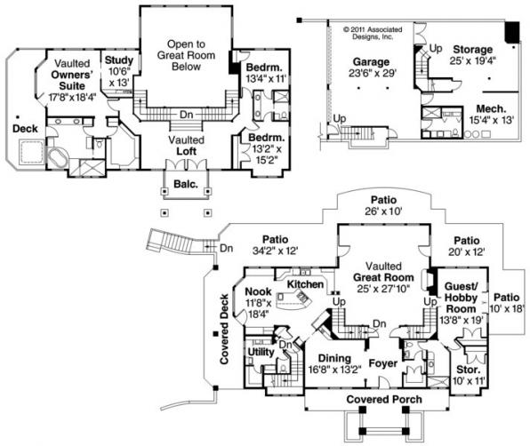 Brynwood - 30-430 - Estate Home Plan - Floor Plan