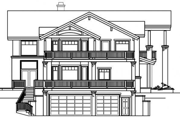 Brynwood - 30-430 - Estate Home Plan - Left Elevation