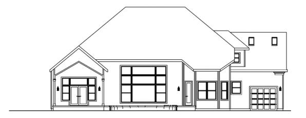 Yorkshire - 30-505 - European Home Plan - Rear Elevation