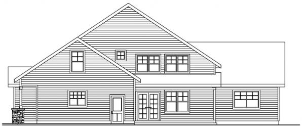 Awbery - 30-551 - Craftsman Home Plan - Rear Elevation