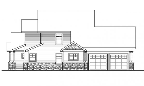 Awbery - 30-551 - Craftsman Home Plan - Right Elevation
