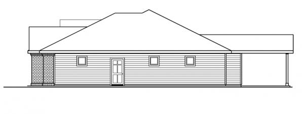 Hollyview - 30-554 - Traditional Home Plan - Right Elevation