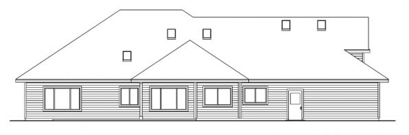 Vicksburg - 30-567 - Traditional Home Plan - Rear Elevation