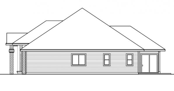 Vicksburg - 30-567 - Traditional Home Plan - Right Elevation