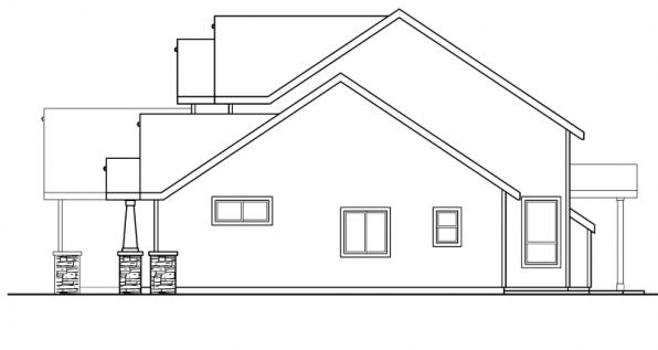 Westdale - 30-572 - Craftsman Home Plan - Right Elevation