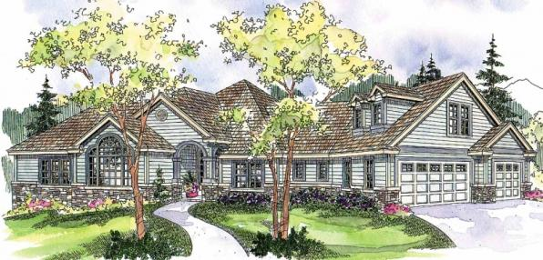Ramsbury - 30-585 - Traditional Home Plan - Front Elevation