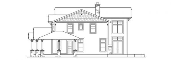 Summerfield - 30-611 - Estate Home Plan - Right Elevation