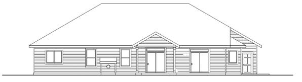 Windsor - 30-678 - Ranch Home Plan - Rear Elevation