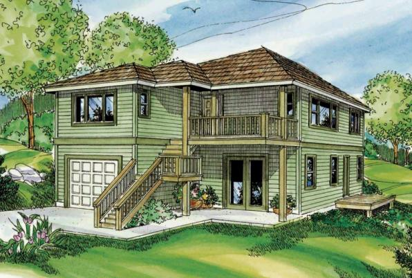 Glenview - 30-687 - Contemporary Home Plan - Front Elevation
