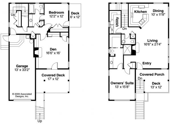 Glenview - 30-687 - Contemporary Home Plan - Floor Plan