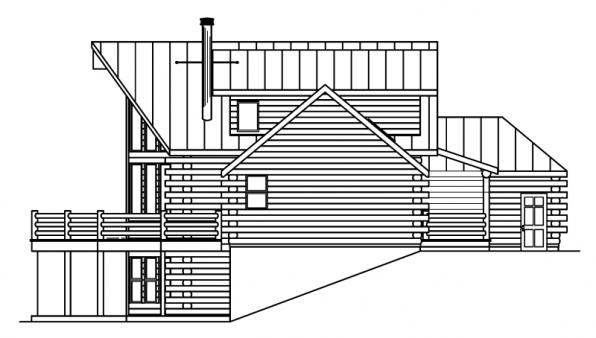 Kodiak - 30-697 - A-Frame House Plan - Right Elevation