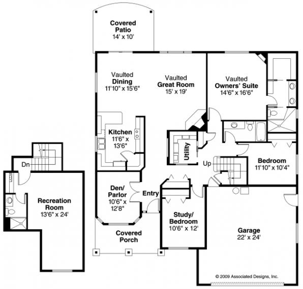 Allenspark - 30-700 - Cottage Home Plan - Floor Plan