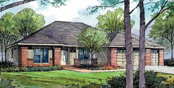 Ambrose - 30-736 - Traditional Home Plan - Front Elevation
