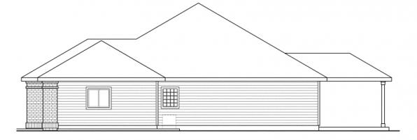 Ambrose - 30-736 - Traditional Home Plan - Right Elevation