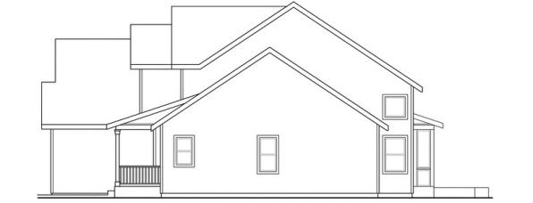 Glendale - 30-750 - Country Home Plan - Right Elevation