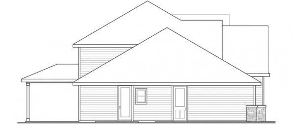 Oakridge - 30-761 - Craftsman Home Plan - Left Elevation