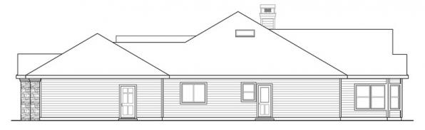 Meadow Lake - 30-767 - Ranch Home Plan - Right Elevation