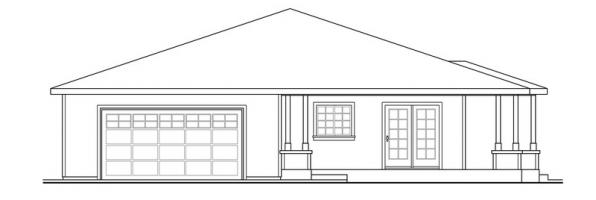 Sahalie - 30-768 - Prairie Home Plan - Left Elevation