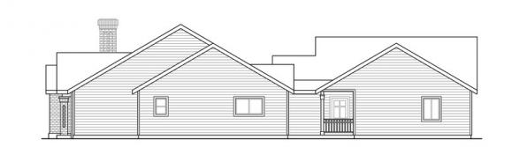 Ardella - 30-785 - Ranch Home Plan - Right Elevation